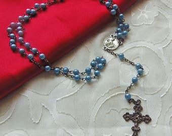 Vintage Rosary Beads/Crucifix (2893C)