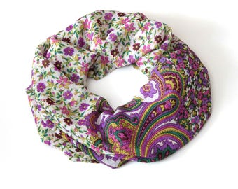Scarf Women Spring Scarf Floral Infinity Scarf Boho Printed Scarf Girlfriend Gift Echarpe Femme Scarves For Women Gift For Mother Summer