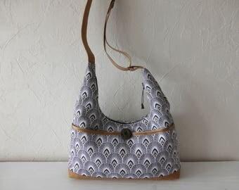Handbag, satchel, shoulder, jacquard, multi-color, soft, light fabrics.