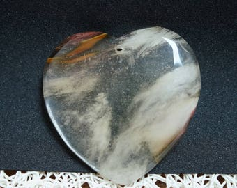 PENDANT QUARTZ heart shape