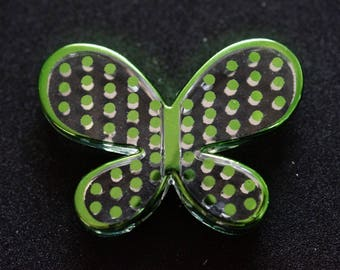 Butterfly green silver transparent