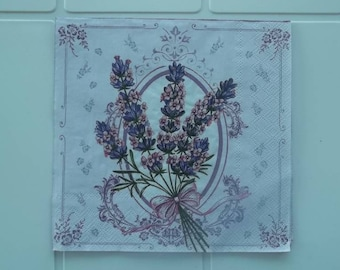 set of 2 paper towels, bunch of lavender