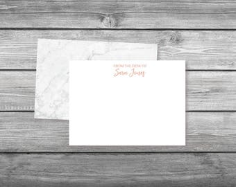 Marble Personalized Stationery, Personal Stationery, Flat Notecards, Stationery note cards, Personalized note cards, Custom Stationery