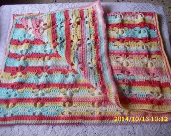 Handmade blanket for pram or bassinet 66X80cm
