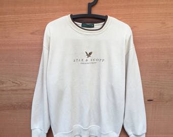 Vintage Lyle & Scott Spell Out Logo Sweatshirt