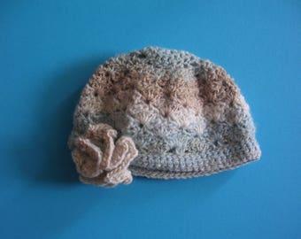 BLYTHE (Takara body and joint body) bonnet dégradé blue, beige and light brown