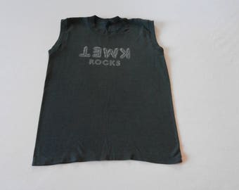 70's 80's KWET ROCKS Sleeveless Supersoft