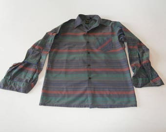 80's Melka Fashion Design Four Color Shirt