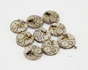 Found object time materials steampunk jewelry rare watch repair craft supplies watch hands pocket clock antique metal parts clockwork parts