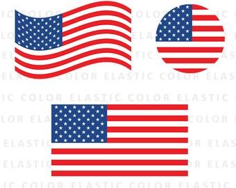 USA flag svg- american flag clipart - usa flag vector digital file  svg, png, dxf, eps