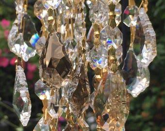 Crystal Garden Windchime A Soft Golden Hue