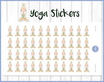 Yoga Stickers | Gym Stickers | Meditation Stickers | Planner Stickers | Journal Stickers | Diary Stickers - Erin Condren, Happy Planner