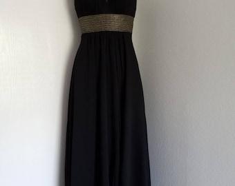 Black long evening dress.
