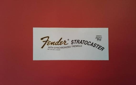 Custom 70's Stratocaster Waterslide Decal For Fender Guitars