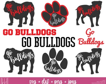 9 Bulldog SVGs - Go Bulldogs - Bulldog Football - High School or Little League Team - Bulldogs svg