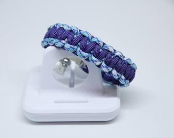 Ice Blue & Purple Adjustable Paracord Bracelet