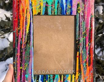 Abstract Splatter Pendant Hanger Picture Frame