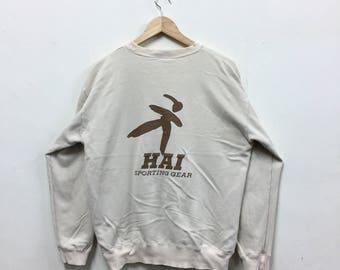 Rare!!! Hai Sporting Gear by Miyake Design Studio Sweatshirt Big Logo Issey Miyake Sweater Designer Japanese Crewneck