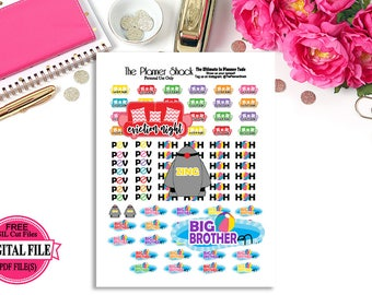 Printable Big Brother 19 Planner Stickers // Planner Printables // Big Brother // Printable Planner Stickers