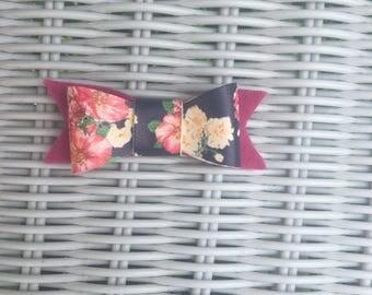 navy magenta floral