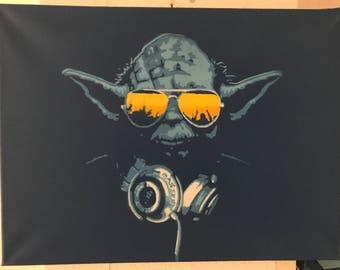 Dj yoda spray painted original