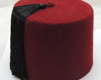 Fez Authentic Turkish-Ottoman Hat,Tarboosh Special orders Red ,Black Tassel Special Tailor in Egypt (specialtailor)'s Ask for Fast Shipping