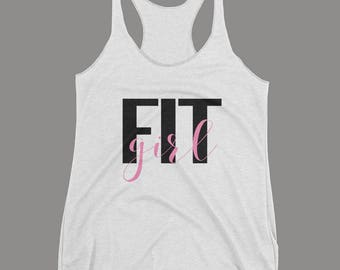 Fit Girl Women's Tank Top | Exercise Tank Top | Gym Tank Top