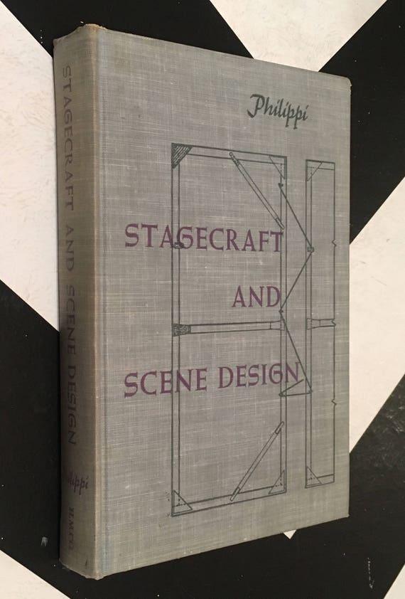 Stagecraft and Scene Design by Herbert Philippi vintage blue craftsman theater design book (Hardcover, 1953)