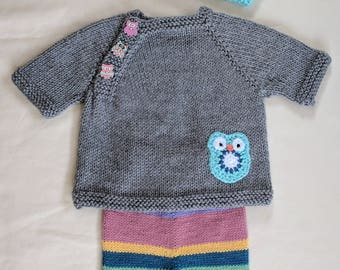 Baby Owl Sweater Set