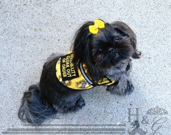 Harry Potter S&R Style Hufflepuff Service Dog Vest with Reflective and Patches