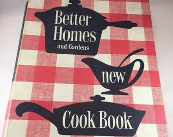 Better Homes and Gardens New Cook Book - Vintage Cookbook - 1950s Cookbook - Vintage Kitchen - Binder Cookbook - 1950s Kitchen