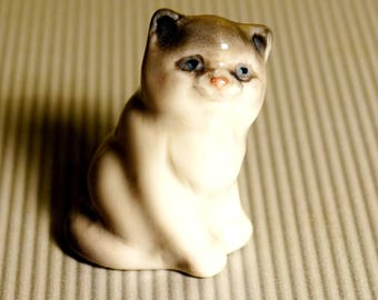 Cat Kitten porcelain figurine cats Souvenirs from Russia miniature excellent quality handmade