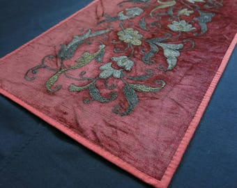 Vintage Uzbek metallic embroidery
