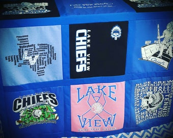 Tshirt Quilts, Gifts for Grandma, Birthday gift, Christmas Gift, custom Tshirt quilt, Handmade Quilts,