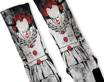 Custom Big Clown Nike Elites Socks with Gift Option