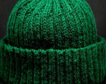 Dark Green Handknitted Hat