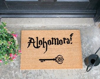 Alohomora Doormat - Made in the UK - Harry Potter quote