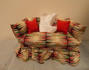 Backgammon  Couch Tissue Box Cover