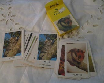 Vintage Card Game - W H Smith Pet Snap