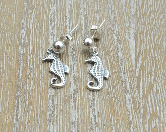 Silver Stud Earrings, Seahorse Earrings,  Silver Earrings For Girls, Sterling Silver Stud Earrings,  Gifts For Teenage Girls