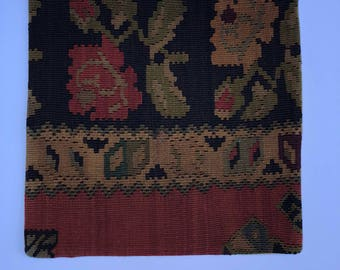 Vintage Handmade Pillowcase - Anatolian - Turkish Kilim - 20 in by 20 in