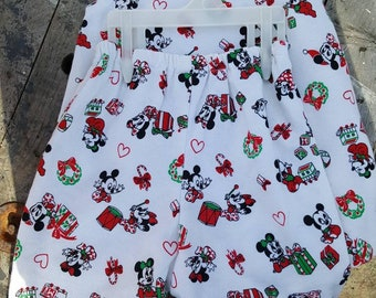 Vintage Handmade 3t/4t Baby Mickey and Minnie Mouse Christmas Outfit