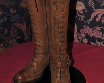 Boots brown leather - size 37