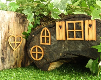 Fairy Window Craft Kit - Fairy Door Accessories for Fairy Gardens, Skirting Board, Log Houses etc