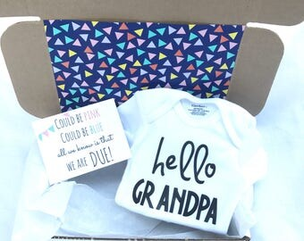 Pregnancy Announcement Box (Hello Grandpa)