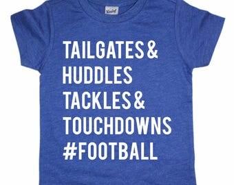 Tailgates - Touchdowns - Football shirt - Kids Football shirt - Sunday Sunday - Baby Football shirt - Toddler Football shirt - Kids Tshirt