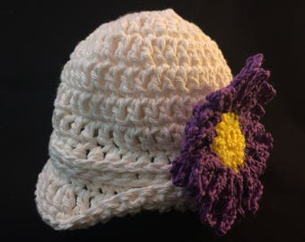 Baby Girl Winter Cloche Hat