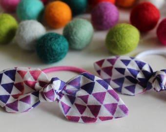 Purple Triangle Knot Hair Tie