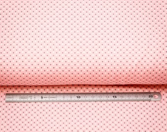 Jersey polka dot patterned fabric
