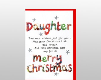 Christmas Daughter Poem Card WWXM10